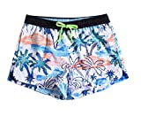 Honeystore Women's Floral Printed Swim Trunks Beachwear Water Sports Board Shorts KW901009 M
