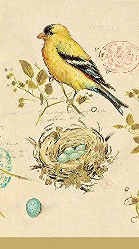 Avanti Linens Gilded Birds Guest Paper Napkins