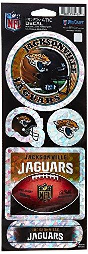 Wincraft NFL Jacksonville Jaguars Prismatic Stickers, Team Color, One Size