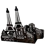 big eiffel tower - Winterworm One Pair Vintage Fashion European Architecture Style Thickening Iron Library School Office Home Study Metal Bookends Book End Perfect Mother's Day Gift(Paris Eiffel tower)