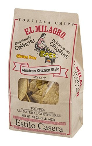 (El Milagro Mexican Kitchen Style Gluten Free Tortilla Chips 16 oz (Pack of 3))