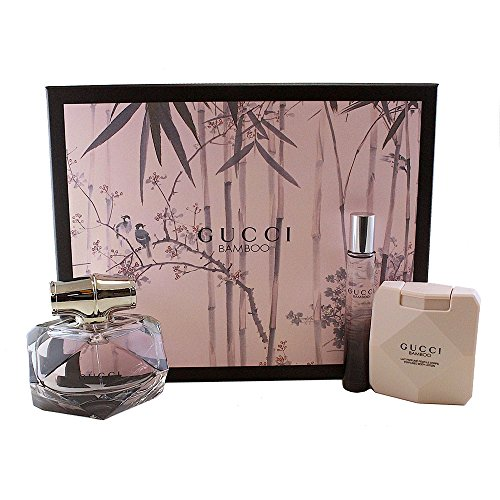 Gucci Bamboo 3 Pc. Set Eau De Parfum Spray 75ml / Body Lotion 100ml / Rollerball 7.4ml