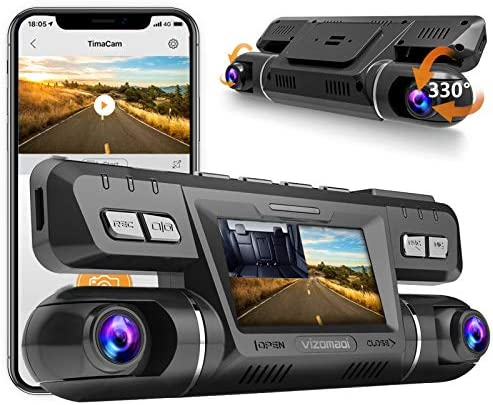 Dual Dash cam | Vizomaoi Dual 1920x1080P FHD | Front and Cabin Dash Camera | 2160P Single Front | for Cars with Wi-Fi | G-Sensor | WDR | Loop Recording| Support 256GB