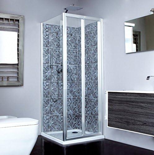Mampara de ducha Naxos S puerta plegable interior y exterior ...