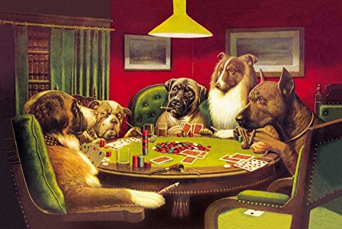 Poker Dogs: A Bold Bluff, 1903 by C.M. Coolidge 23