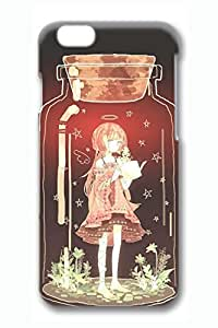 Anime Glass Bottle Girl Cute Hard Cover For iPhone 6 Plus Case ( 5.5 inch ) PC 3D Cases in GUO Shop