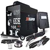 ZESUPER 160 MIG Welder DC IGBT Inverter Welding Machine Flux Core Wire Gasless Automatic Feed Welder Free Mask 110V