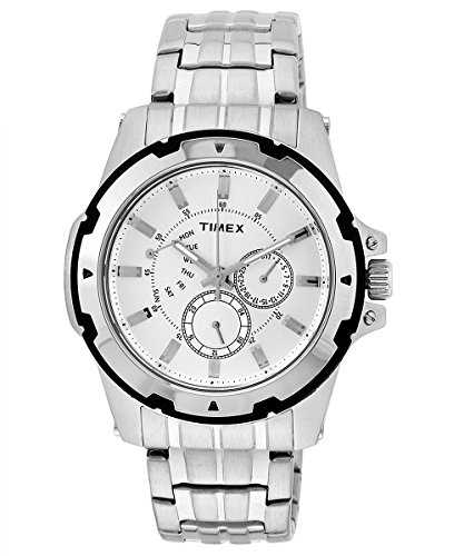 Timex E Class Analog Silver Dial Men #39;s Watch   D909