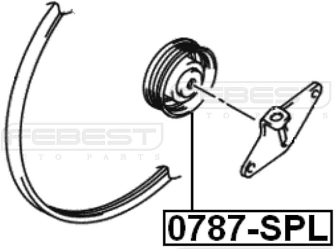 Febest 17540770 Pulley Idler For Suzuki