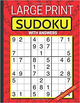 Large Print Sudoku: Puzzle Book for Adults: Extremely Hard