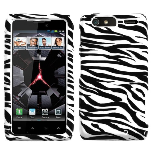 (Zebra Skin Phone Protector Faceplate Cover For MOTOROLA XT912M(Droid Razr Maxx))