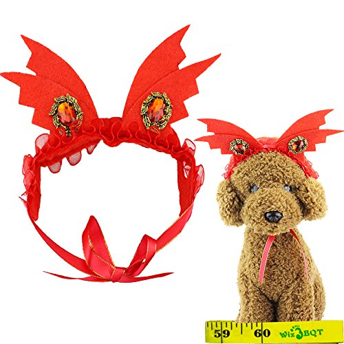 Cat Dog Pet Halloween Devil Horns Hair Head Bands Accessories for Kitten Puppy Small Dogs Cats -