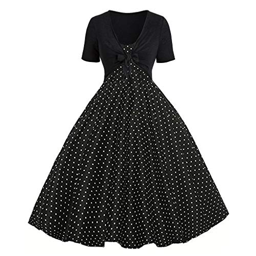 (WENSY Women's Summer Rose Dot Print Sling Evening Casual Dress Fashion Party Swing Dresses Set Cardigan Two-Piece(Black,M))