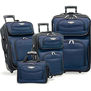 Travel Select Amsterdam 4-Piece Softshell Deluxe Expandable Rolling Luggage Set