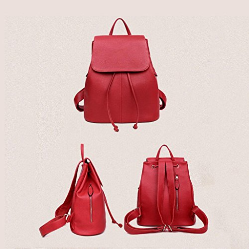 belt amp;F bag red bag traveling Cosmetic pattern Lady backpack ZY backpack Pumping bags school backpack Simple Litchi Student Ms wRdqyfxY