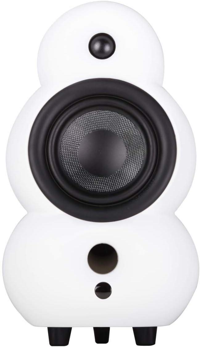 Podspeakers MiniPod MKIV White Satin 2-way passive Hi-Fi speaker, PS16112 (2-way passive Hi-Fi speaker. High End passive speaker. Bass reflex system.)