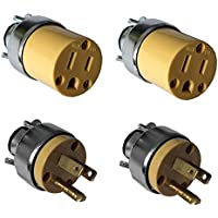 Generic YanHong-US3-151019-245 8yh2362yh g 15 Amp 125V 3 Prong Cord ug 15 Amp 1 4 Pc 4 Pc Male Replacement Plug ng Cord R Male and Female d Female 15 Amp 125V