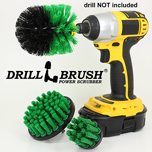 Electric Rotary Cleaning Brush Kit for Tub, Tile and Grout, Sinks and Porcelain by Drillbrush