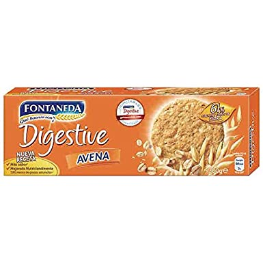 Fontaneda Digestive - Galleta con Copos de Avena, 300 g