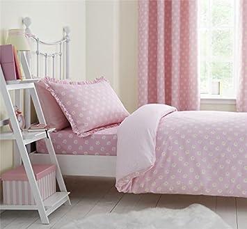 margherite bambini rosa bianco misto cotone a quadretti double ... - Copripiumino Bianco E Rosa