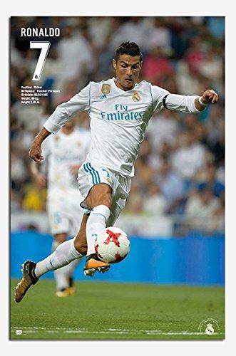 Real Madrid Ronaldo 2017 / 2018 Season Poster Gloss Laminate
