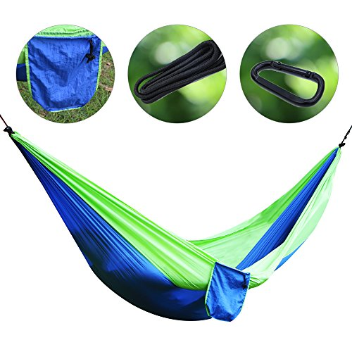 amping Hammock With Hammock Tree Straps, Lightweight Nylon Portable Parachute Hammock for for Camping, Backpacking, Tavel, Beach, Yard (Portable Camping Hammocks)