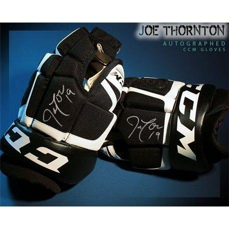Joe Thornton Autographed CCM Model Gloves - Autographed NHL Gloves