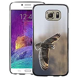 A-type Arte & diseño plástico duro Fundas Cover Cubre Hard Case Cover para Samsung Galaxy S6 (Owl Feathers Field Flying Wings Winter)