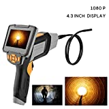 Industrial Endoscope 4.3inch LCD 1080P 1.6-198inch Focus Distance Inspection Industrial Borescope Camera 8.0 mm Diameter IP67 Waterproof Camer with Adjustable 6 LED Lights