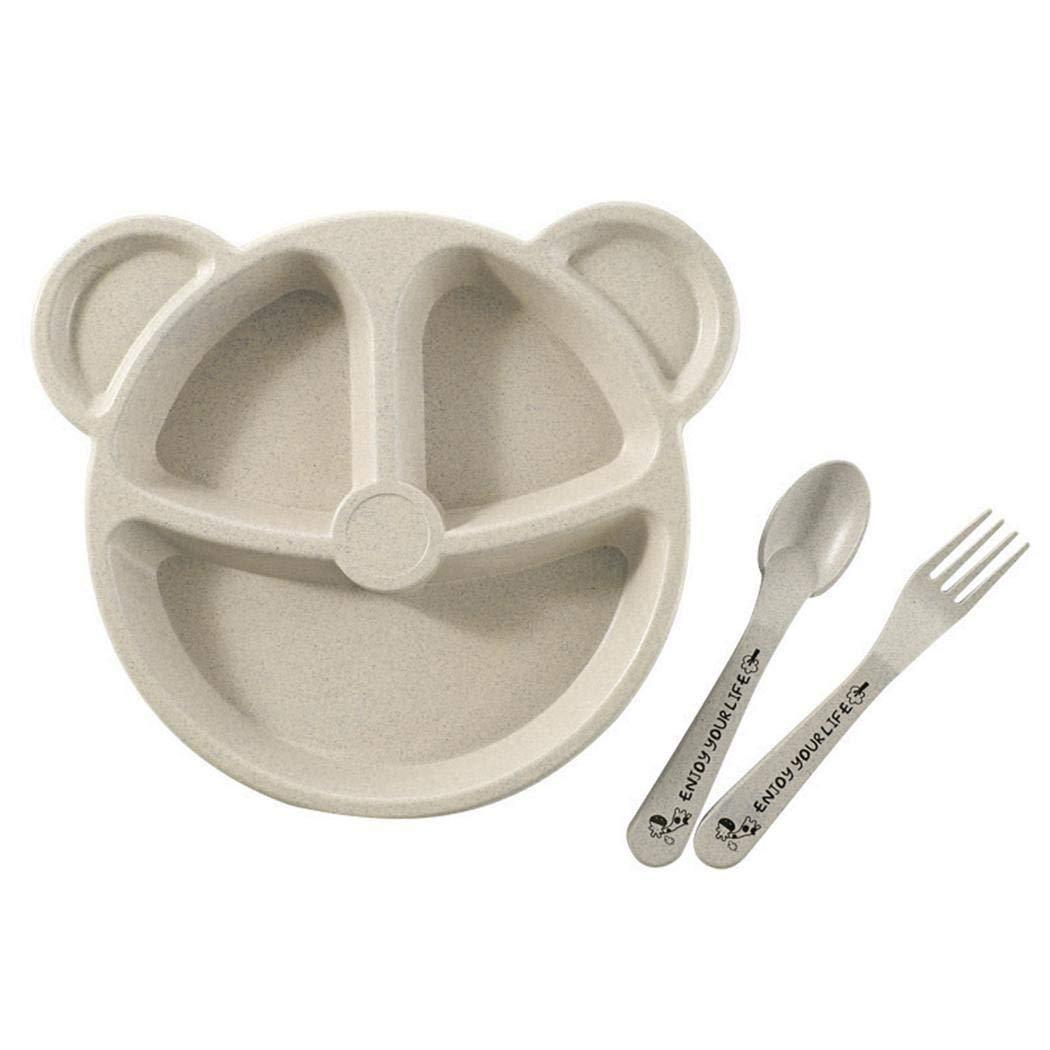 YAGAIU 3 Pcs//Set Assiette pour Enfants Set Creative Home Vaisselle Assiettes /à Dessert