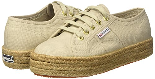 2730 Beige taupe 949 Mujer Zapatillas Para cotropew Superga 8wqd68