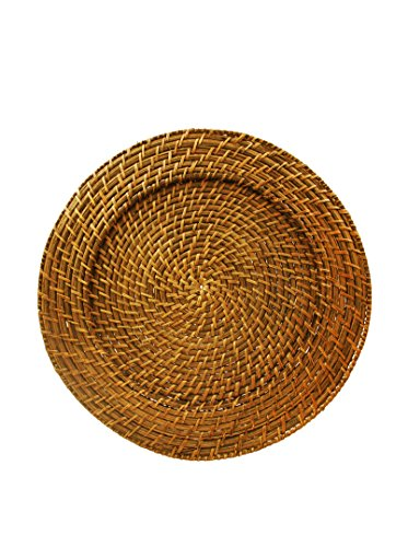 ChargeIt! By Jay Harvest Round Rattan Charger Plate