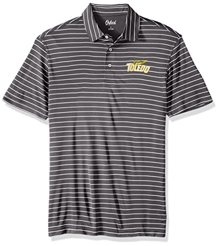 Oxfords Toledo (Oxford NCAA Toledo Rockets Men's Turner Classic Stripe Polo Shirt, X-Large, Iron Gate)
