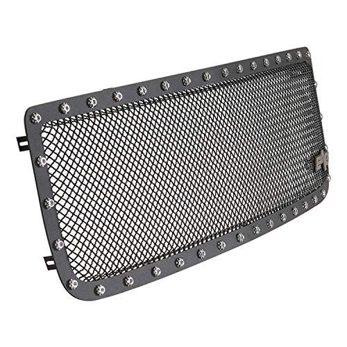 (EAG Rivet Black Stainless Steel Wire Mesh Grille for 94-98 GMC C1500 / 2500/3500 / 94-98 GMC K1500 / 2500/3500)