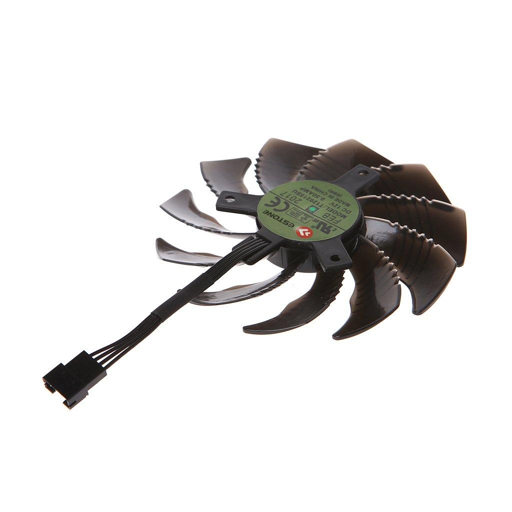 RingBuu T129215SU 88mm Graphics Card Cooling Fan For Nvidia Gigabyte GTX Aorus-Clockwise by RingBuu (Image #5)