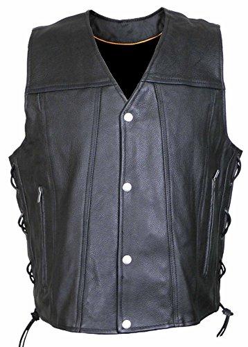 Vance Leather Gambler Style Premium Cowhide Leather Vest ()