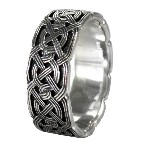 Large Celtic Knot Band - Large Irish Woven Celtic Knot Band for Men or Women (sz 4-15) sz 11