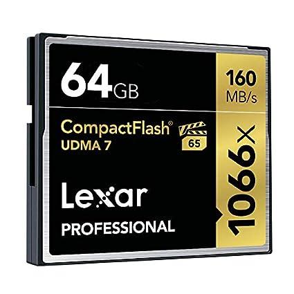 Lexar Professional - Tarjeta de Memoria CompactFlash 1066x de 64 GB
