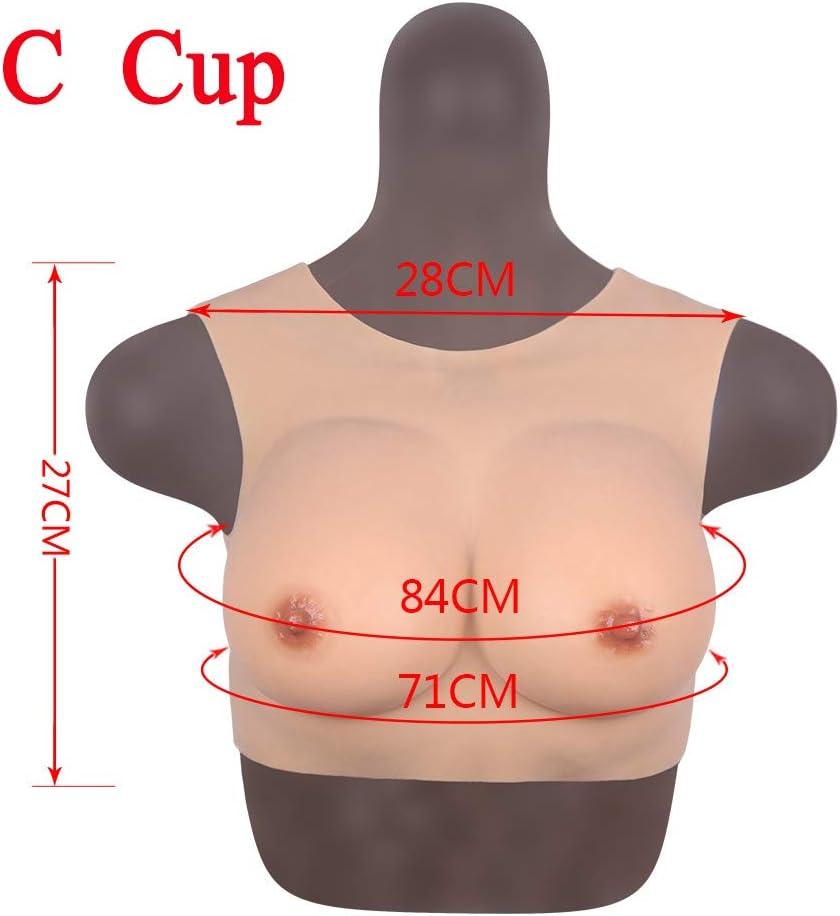 YQYAH Silikon Brust Brustprothese k/ünstliche br/üste Realistische Haut f/ür Mastektomie Prothesen Crossdresser Transgender Transvestiten Drag Queen C D F Cup,Ivory White,C