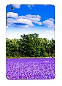 Christmas Day's Gift- New Arrival Cover Case With Nice Design For Ipad Mini/mini 2- Lavender Field