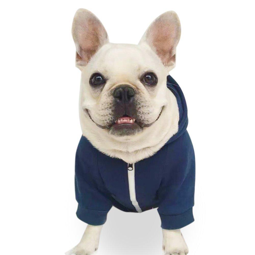 Fashion Pet Dog Cat Hoodies 2 Legs Pet Clothes Cotton Puppy Sweatshirt Warm Sweater (XXL, Dark Blue)