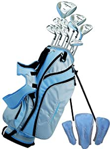 Phoenix XS Ladies Deluxe Complete Set Includes All Clubs With Graphite Shafts, Mallet Putter, And Stand Bag (Right Handed)