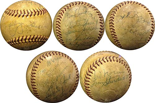 1950S Yankees Team Autographed Signed Baseball Yogi Berra Whitey Ford Rizzuto Auto - Certified ()