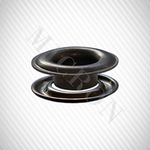 Micron Grommet Machine TEP-1, #3 (7/16'') Dies, #3 (7/16'') Grommet & Washer 500 Pairs Set. (Antique Brass)