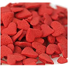Valentine Hearts Jumbo Red Heart Shapes Bakery Topping Sprinkles 1 pound