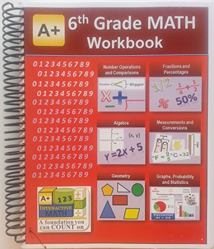 Counting Number worksheets grade 7 math probability worksheets : 6th Grade Math Workbook (Printed B&W Plasti-coil bound) (129 ...