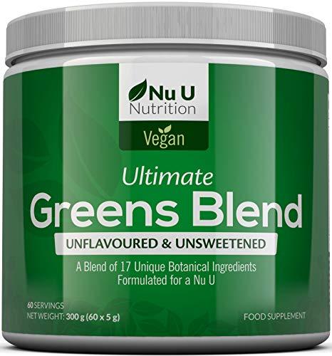 Super Greens Powder – 17 Superfoods Powder – 300g 60 Servings – Vitamin & Mineral Rich Formula – No Artificial…