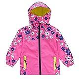 #4: KISBINI Girls Windproof Zipper Jacket Hooded Windbreaker Outdoor Rain Coat