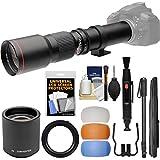 nikon 5300 flash diffuser - Vivitar 500mm f/8.0 Telephoto Lens (T Mount) & 2x Teleconverter (=1000mm) + 3 Color Flash Diffusers + Monopod Kit for Nikon Digital SLR Cameras