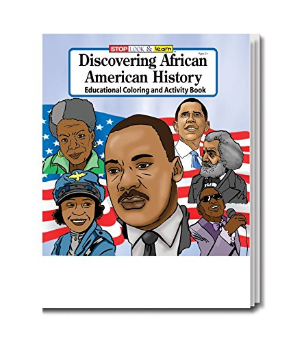 Discovering African American History Kid's Educational Coloring & Activity Books in Bulk (25 Pack)